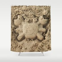 crab Shower Curtains featuring crab by Кaterina Кalinich
