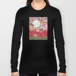 the moon, stars, io moths, & poppies Long Sleeve T-shirt