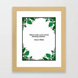 Brews & Hues: a Quote from Oscar Wilde (Portrait) Framed Art Print