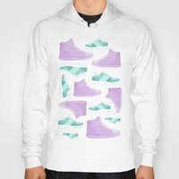 sneakers Hoodies featuring WATER, COLORS AND SNEAKERS by Catalina Graphic