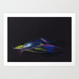 Gold Fisch Art Print