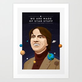 We are Made of Star Stuff - Carl Sagan Art Print