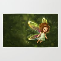 fairy Area & Throw Rugs featuring Fairy by Ma. Luisa Gonzaga
