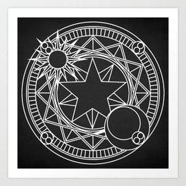 Sakura's Magic Circle Art Print