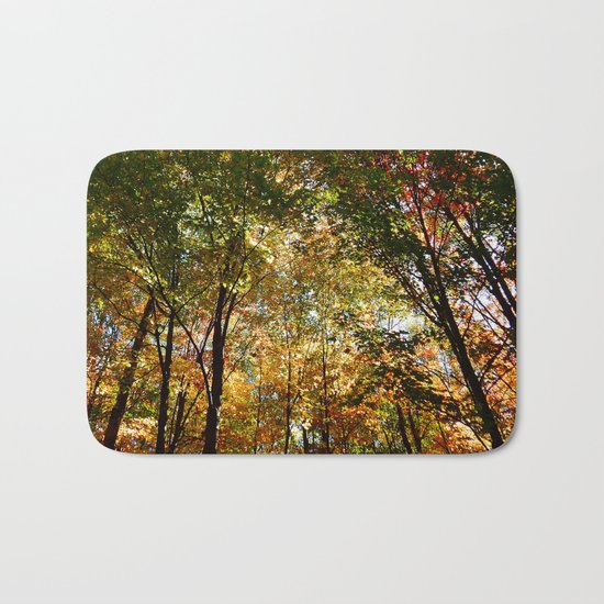 Through the Trees in October Bath Mat