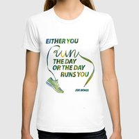 run T-shirts featuring RUN by Mei Lee