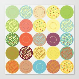 Circle pattern Canvas Print