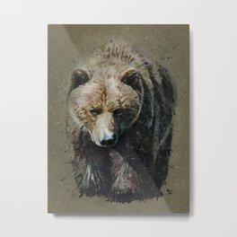 Bear background Metal Print