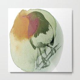 Watercolor Robin Metal Print