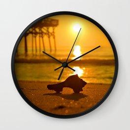 Shell Sunrise Wall Clock