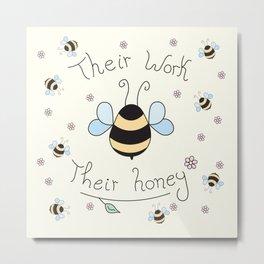 Bee friend Metal Print