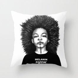 Melanin Poppin Throw Pillow