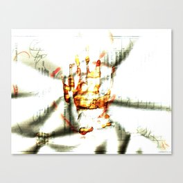 Trace of the hand Canvas Print