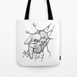 Jesus - Take My Helping Hand Tote Bag