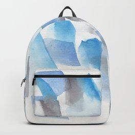 180713 Blue Black Brush Stroke Watercolour| Watercolor Brush Strokes Backpack