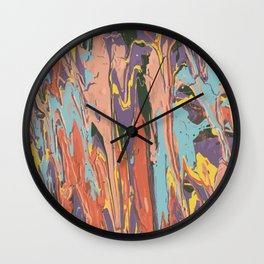 Baesic Primary Paint Drips Wall Clock