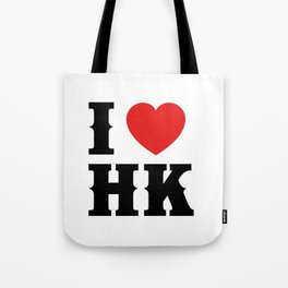 I HEART HK Tote Bag