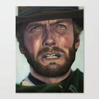 clint eastwood Canvas Prints featuring Clint Eastwood by scottmitchell