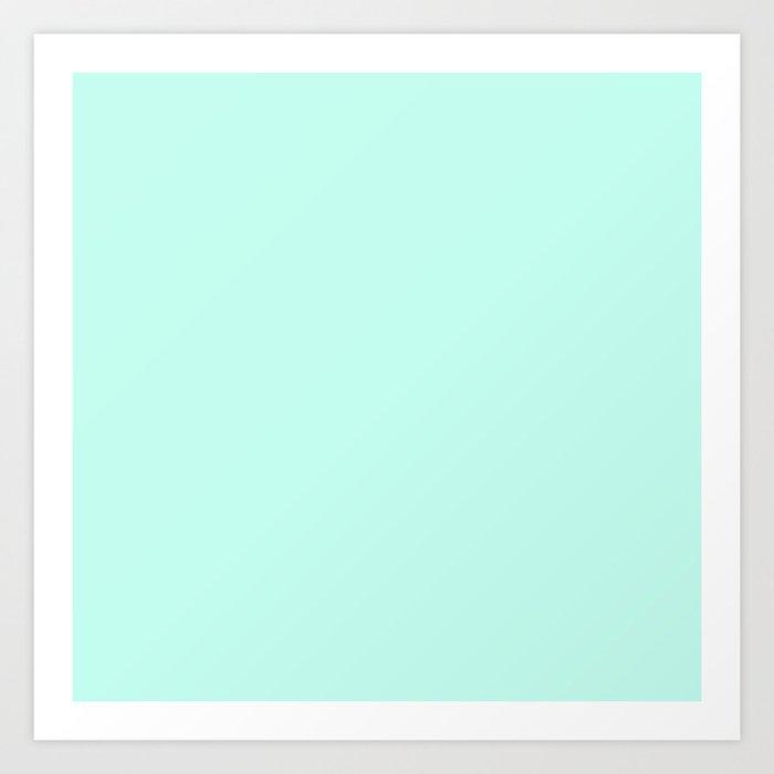 Pastel Mint - Sea Foam - Light Blue Green - Solid Color Kunstdrucke