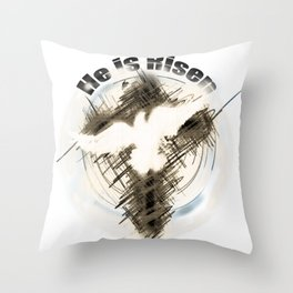 The Cross of Jesus Risen Throw Pillow