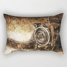 Antique Old Photo Camera Rectangular Pillow