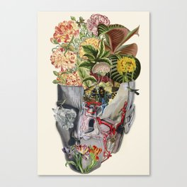 Mindfulness anatomical collage art by bedelgeuse Canvas Print