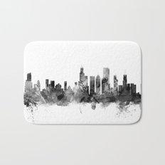 Chicago Illinois Skyline Bath Mat