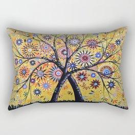 Abstract Art Landscape Original Painting ... Flowering Tree Rectangular Pillow