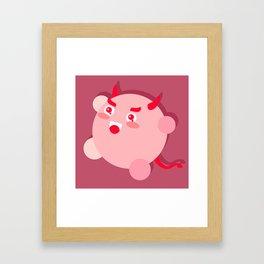 The cutest evil demon ever! Framed Art Print