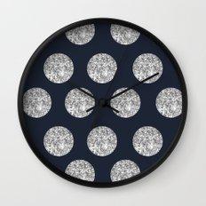 Glitter Pois Wall Clock