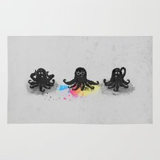 4-color squid Rug