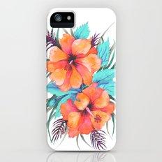 TROPICAL FLOWER {orange hibiscus}  iPhone (5, 5s) Slim Case