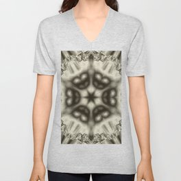 Sepia jewelled kaleidoscope splendor Unisex V-Neck