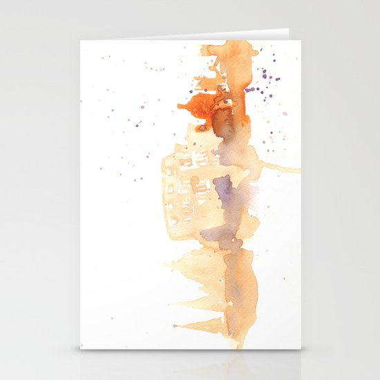 Watercolor landscape illustration_Rome - Colosseum Stationery Cards