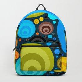 Retro Circular Pattern Design Backpack