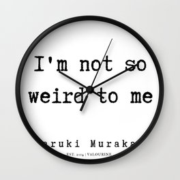 64 |  Haruki Murakami Quotes | 190811 Wall Clock