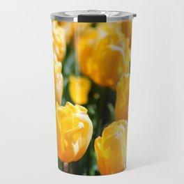 Neon Yellow Tulips Travel Mug