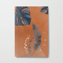 Monstera Leaf Metal Print