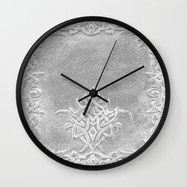 Tribal Edging Book Cover Light Wall Clock