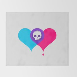 A Death-Marked Love Throw Blanket