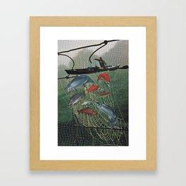 Salmon Trap Framed Art Print