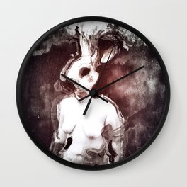 """""""The Rabbit Stared at Alice"""" By Nacho Dung. Wall Clock"""