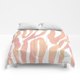 wild thing (pink and gold foil) Comforters