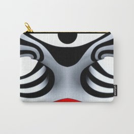 Black White and Red Geometric Abstract Carry-All Pouch