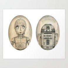 Droids Art Print
