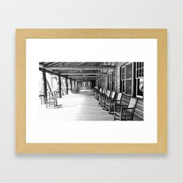 Yellowstone Lake Lodge Porch Framed Art Print
