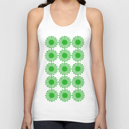 vintage flowers green Unisex Tank Top