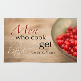 Men Who Cook Get Laid More Often Typography Rug