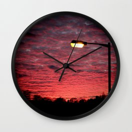 British Winter Sunset Wall Clock