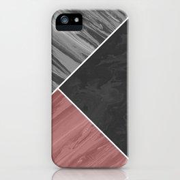 Fluid art geometric iPhone Case